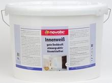 http://wandfarbe-test.de Novatic weiß 10 Liter 5 Liter 2,5 Liter